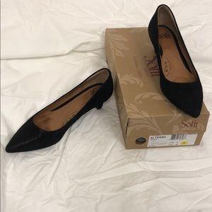 Sofft Altessa Black 8 M 39 kitten heels